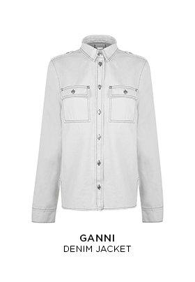 Ganni white denim jacket