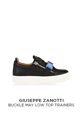 Giuseppe Zanotti buckle may low top trainers