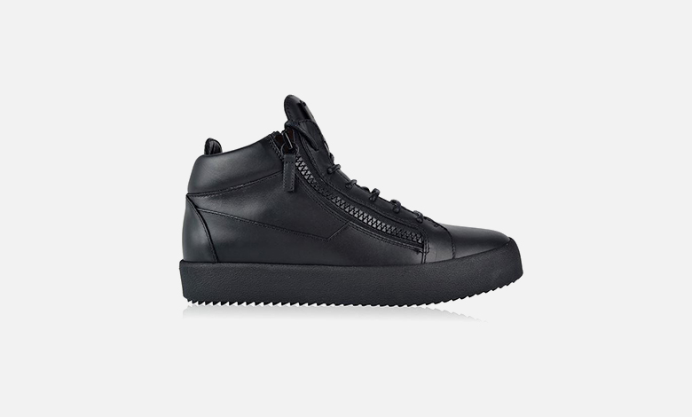 All-black leather Giuseppe Zanotti high top trainers