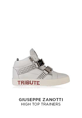 Michael Jackson Tribute project high top trainers white