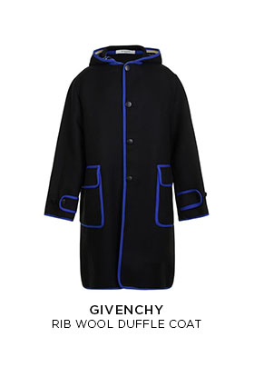 Givenchy rib wool duffle coat