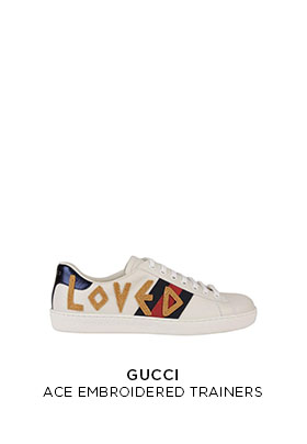 Gucci Ace Loved embroidered trainers