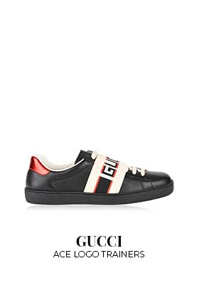 Gucci Ace logo trainers