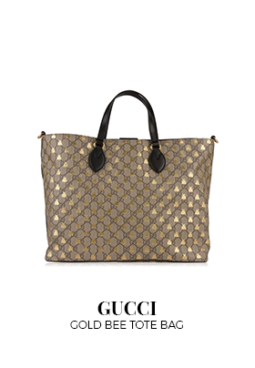 Gucci gold large bee Tote bag