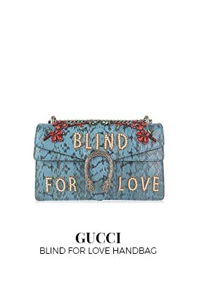 Gucci Blind For Love Dionysus handbag embellished blue