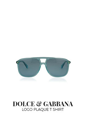 Gucci blue rectangular frame sunglasses
