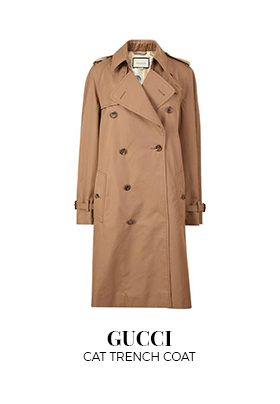 Gucci cat trench coat