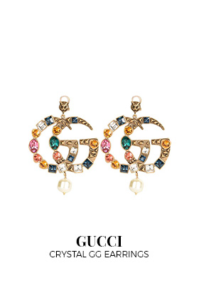 Gucci Crystal GG earrings