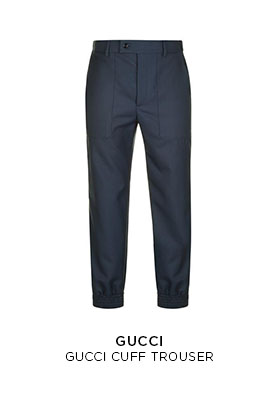 Gucci cuff trousers