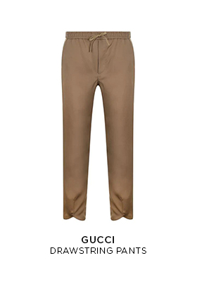 Gucci drawstring trousers