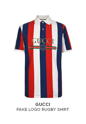 Gucci fake logo rugby shirt