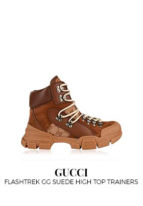 Gucci Flashtrek GG Suede High Top Trainers