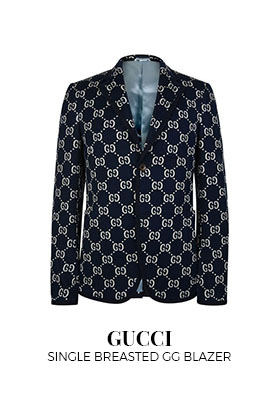 Gucci single breasted GG blazer