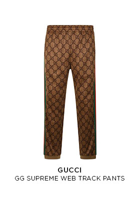 Gucci GG supreme web track pants
