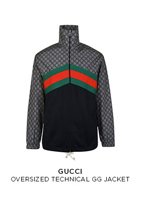 Gucci oversized technical GG jacket
