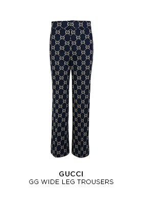 Gucci GG wide leg trousers