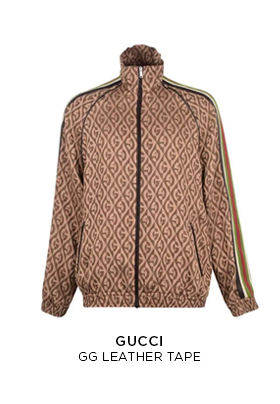 Gucci GG leather tape tracksuit top