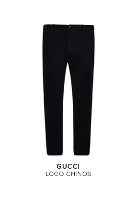 Gucci black logo chinos