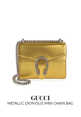 Gucci metallic Dionysus mini chain bag