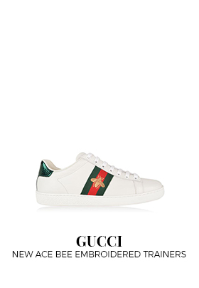 Gucci New Ace bee embroidered trainers