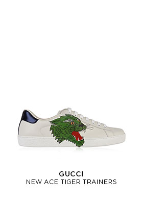 Gucci new ace tiger trainers