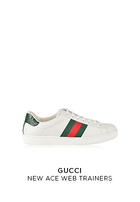 Gucci New Ace web trainers