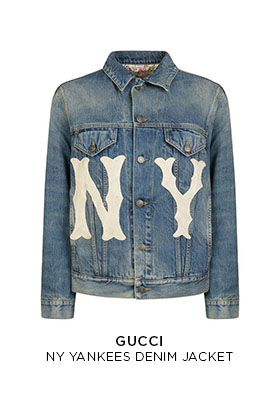 Gucci NY Yankees printed denim jacket