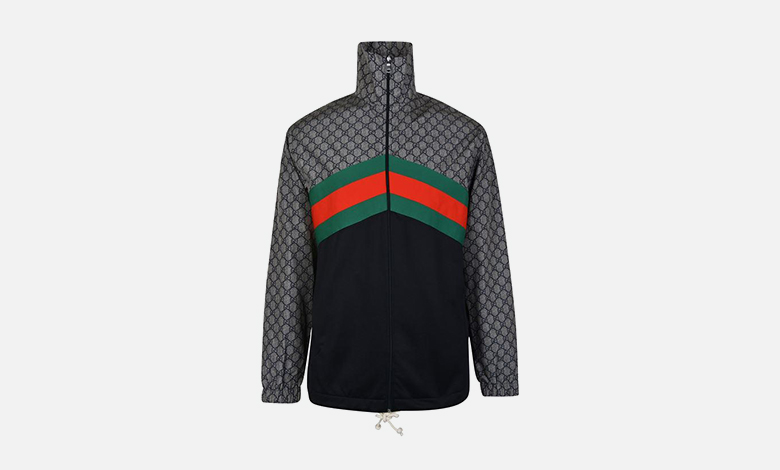 Gucci oversized techical zip-through GG jacket