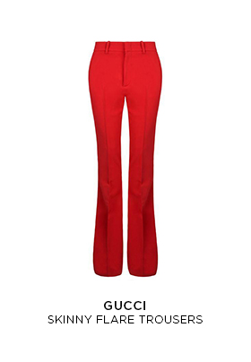 Gucci skinny flare trousers