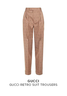 Gucci retro suit trousers