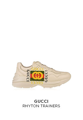 Gucci Rhyton chunky trainers with logo