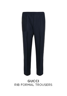 Gucci rib formal trousers
