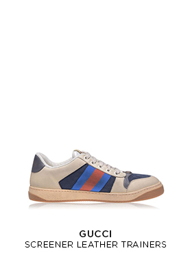Gucci screener leather trainers