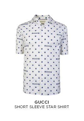 Gucci short sleeved star shirt