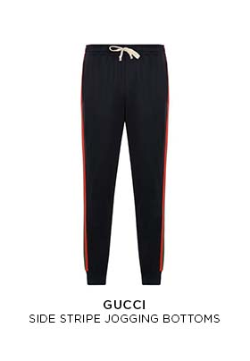 Gucci side stripe jogging bottoms