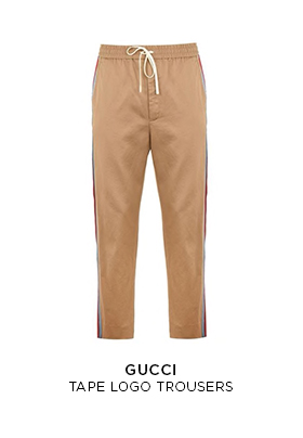 Gucci tape logo trousers