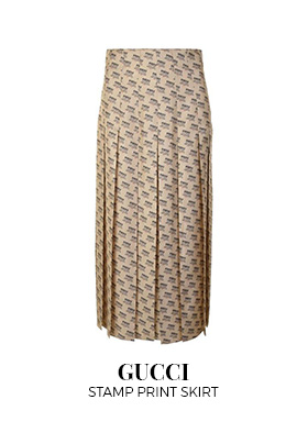 Gucci stamp print skirt