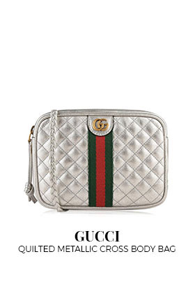 Gucci Quilted Metallic Cross Body Bag