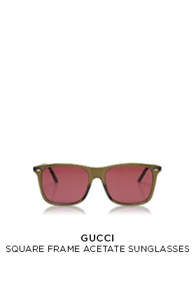 Gucci square frame acetate sunglasses