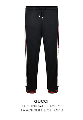 Gucci technical jersey tracksuit bottoms