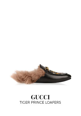 Gucci tiger prince loafers