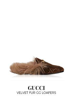 Gucci Velvet Fur GG Loafers