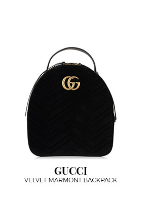 Gucci Velvet Marmont Backpack
