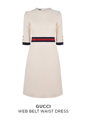 Gucci web belt waist dress