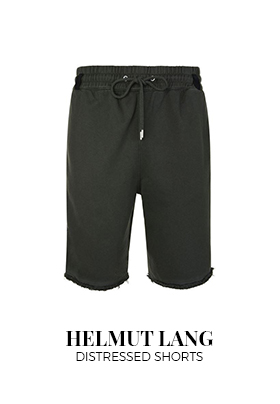 Helmut Lang distressed shorts