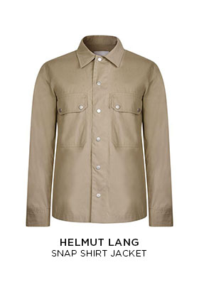 Helmut Lang snap shirt jacket
