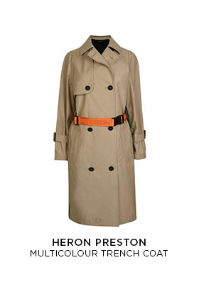 Heron Preston multicolour trench coat