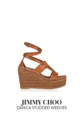 Jimmy Choo brown leather wedges