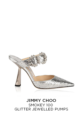 Jimmy Choo smokey 100 glitter jewelled pumps
