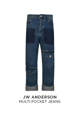 JW Anderson multi-pocket jeans